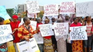 Nigeria girls' abduction: Protest march in Abuja