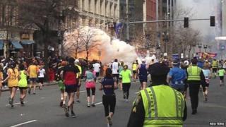 Boston marathon bombing in April 2013