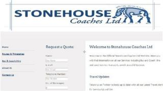 Stonehouse Coaches webpage