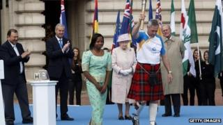 Queen's Baton Relay launch at Buckingham Palace