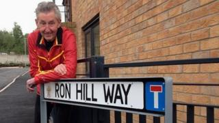 Ron Hill on Ron Hill Way