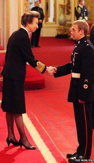 Marine Harry Robinson and the Princess Royal