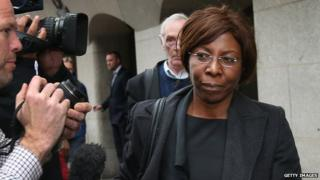 Constance Briscoe outside the Old Bailey on 1 May 2014