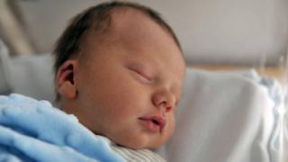 A newborn baby - file pic