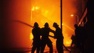 Firefighters in Brixton