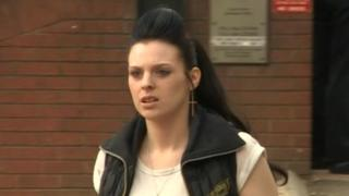 Amanda Spencer outside Sheffield Crown Court