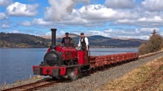 Steam engine on Bala Lake Railway