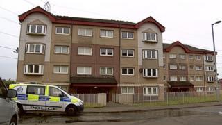 Police at flats