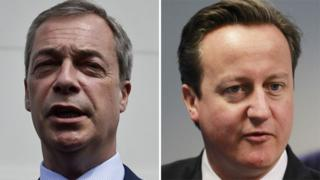 Nigel Farage and David Cameron