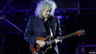 Brian May performing in April in Malta