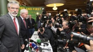Gerry Adams denies McConville son 'backlash threat'