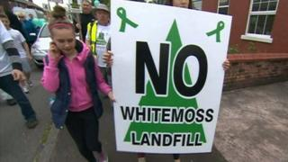 Protesters against Whitemoss Landfill