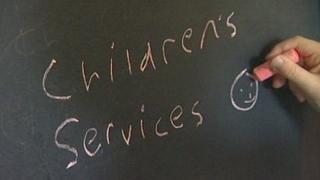 Children's services on chalkboard