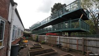 New footbridge