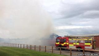 Fire at York Racecourse