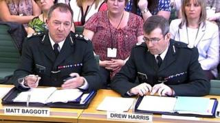 Matt Baggott and Drew Harris have been giving evidence to MPs about OTRs
