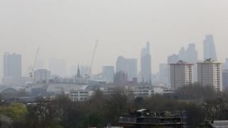 London skyline seen from Primrose Hill in London