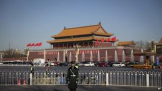 File photo: Tiananmen Gate near the Great Hall of the People in Beijing, China