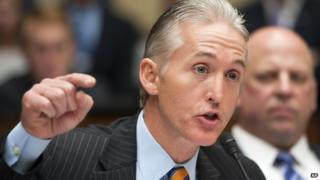 Representative Trey Gowdy of South Carolina speaks during a hearing on 8 May, 2013.