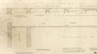 Hugh Iorys Hughes plans for the Mulberry harbour