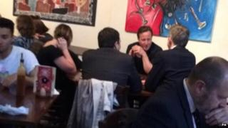 David Cameron in Nando's