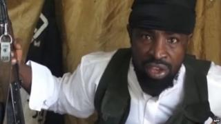 A screengrab taken on 24 March 2014 from a video obtained by AFP showing Boko Haram leader Abubakar Shekau