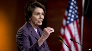 House Minority Leader Nancy Pelosi appeared in Washington on 9 May 2014