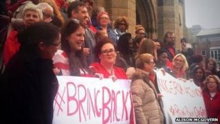 Vigil for Nigerian schoolgirls held in Liverpool