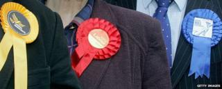 Election rosettes
