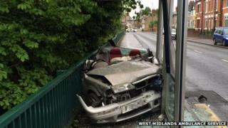 Scene (pic: West Midlands Ambulance Service)