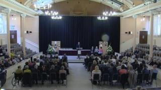 The service to commemorate victims of the Stockline factory explosion