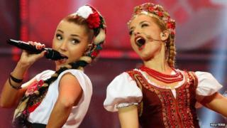 Donatan and Cleo perform the song My Slowianie- We Are Slavic