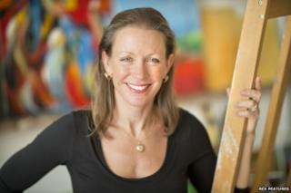Frieda Hughes in her studio, 2013