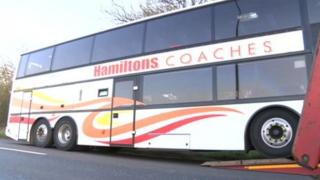 Coach in A47 accident