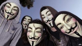 Anonymous protesters