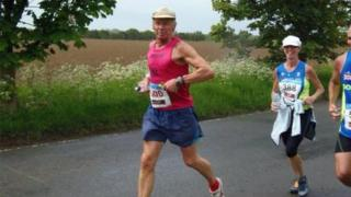 Andy Wilmott running a marathon