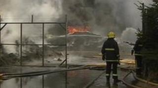 Scene of Campsie fire