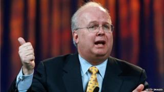 Karl Rove speaks at a 2008 panel discussion in San Francisco, California.