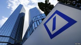 Deutsche Bank building in Frankfurt