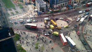 Site of the crash at Elephant and Castle