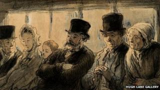In The Omnibus by the French artist Honore Daumier was stolen in 1992