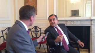 Egyptian Foreign Minister Nabil Fahmy, interviewed by Frank Gardner