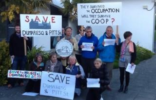Co-op protest