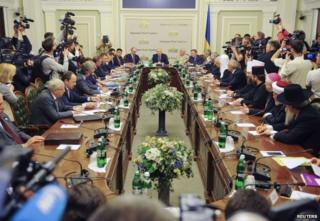 The talks in Kiev, 14 May