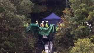 Rescue workers at Gleision drift mine