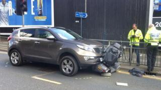Scooter crash scene