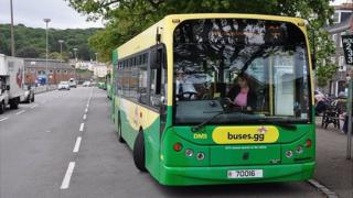 Guernsey buses at the St Peter Port terminus