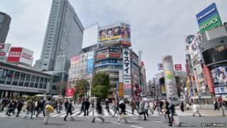 Japan street crossing