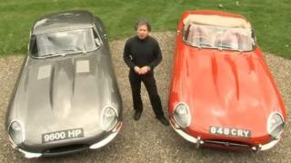 Philip Porter with his two original E-types