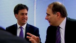 Ed Miliband and David Axelrod